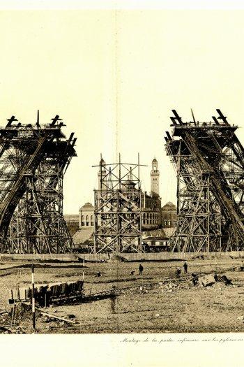 Eiffel Tower building site