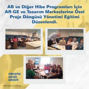 Ar-Ge ve Tasarım Merkezlerine Özel Proje Döngüsü Yönetimi ( PCM Eğitimi ) düzenlenmiştir.