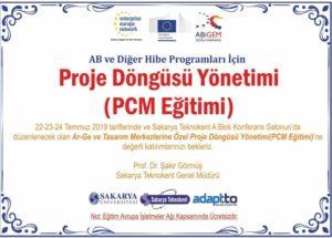 Ar-Ge ve Tasarım Merkezlerine Özel Proje Döngüsü Yönetimi ( PCM Eğitimi ) Düzenlenecektir