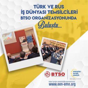 Türk ve Rus İş Dünyası Temsilcileri BTSO Organizasyonunda Buluştu