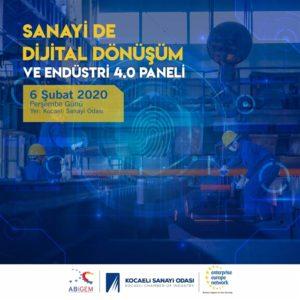 Sanayide Dijital Dönüşüm ve Endüstri 4.0 Konulu Panel Düzenlenecektir