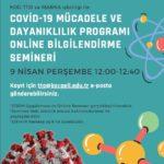 Covid- 19 mücadele ve dayanıklılık programı online bilgilendirme semineri