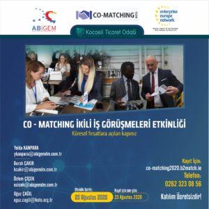 """Co-Matching İkili İş Görüşmeleri Etkinliği """"Küresel fırsatlara açılan kapınız"""""""