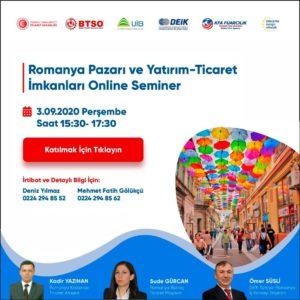 Romanya Pazarı ve Yatırım-Ticaret İmkanları Online Semineri