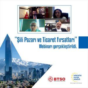 Şili Pazarı ve Ticaret Fırsatları' webinarı gerçekleştirildi.