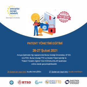 Patent Yönetimi Eğitimi Gerçekleştirilecektir