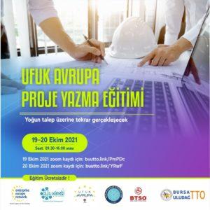 Ufuk Avrupa Proje Yazma Eğitimi yoğun talep üzerine tekrar gerçekleşecektir.