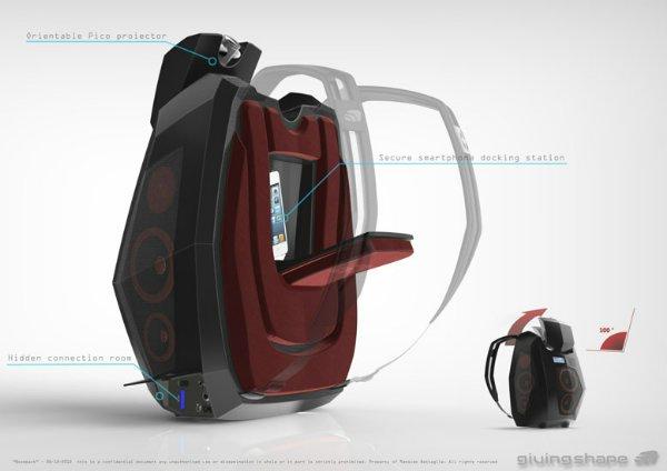 В рюкзаке предусмотрено специальное отделение для хранения мобильника