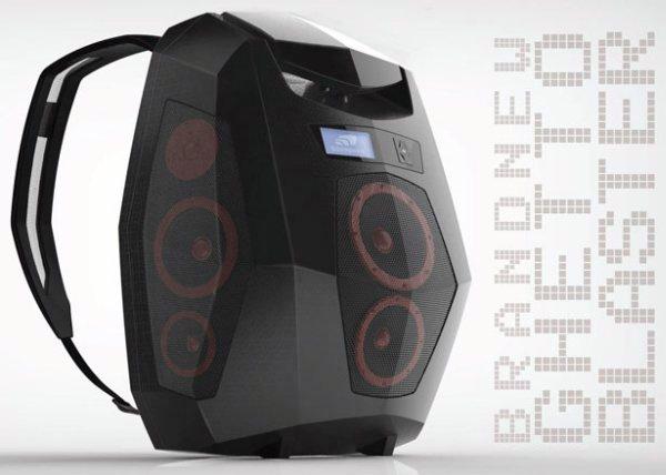 аудио рюкзак бумбокс