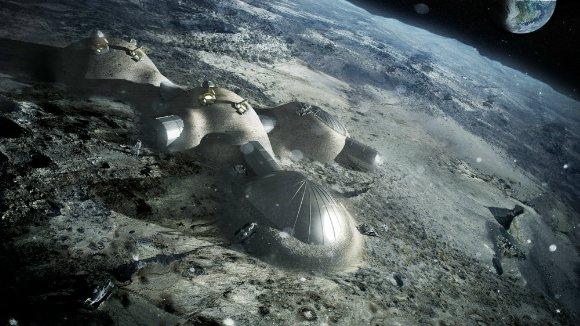 На луне появятся здания