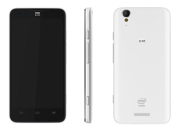 Новый смартфон от ZTE с процессором Intel Clover Trail+