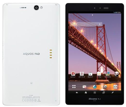 Sharp Aquos Pad SH-08E — первый 7-дюймовый планшет с разрешением 1920×1200 пикселей