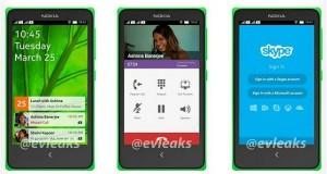 Утечка фото пользовательского интерфейса Android смартфона Nokia