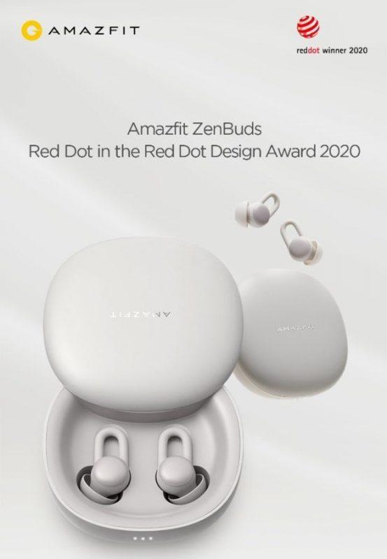Премией Red Dot Design Award 2020 отмечены наушники Amazfit ZenBuds