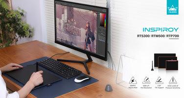 Huion представляет новую линейку графических планшетов: Inspiroy RTS-300, RTM-500, RTP-700