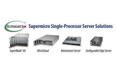 Supermicro расширяет ассортимент высокопроизводительных однопроцессорных систем