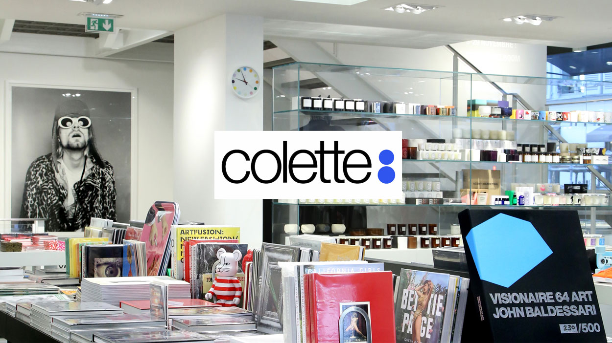 colette store book section showing colette logo