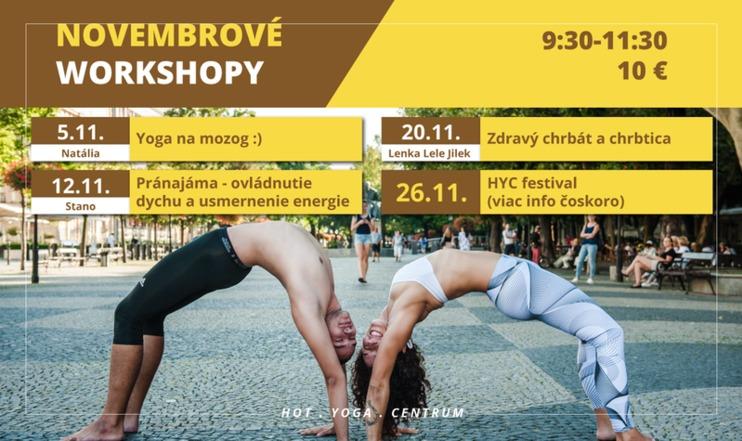 Carousel novembrove workshopy jogy