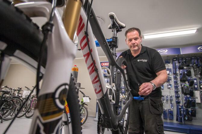 Rune Løtvedt, daglig leder for sykkelverksted og arbeidstilbud, Pedalen Sarpsborg