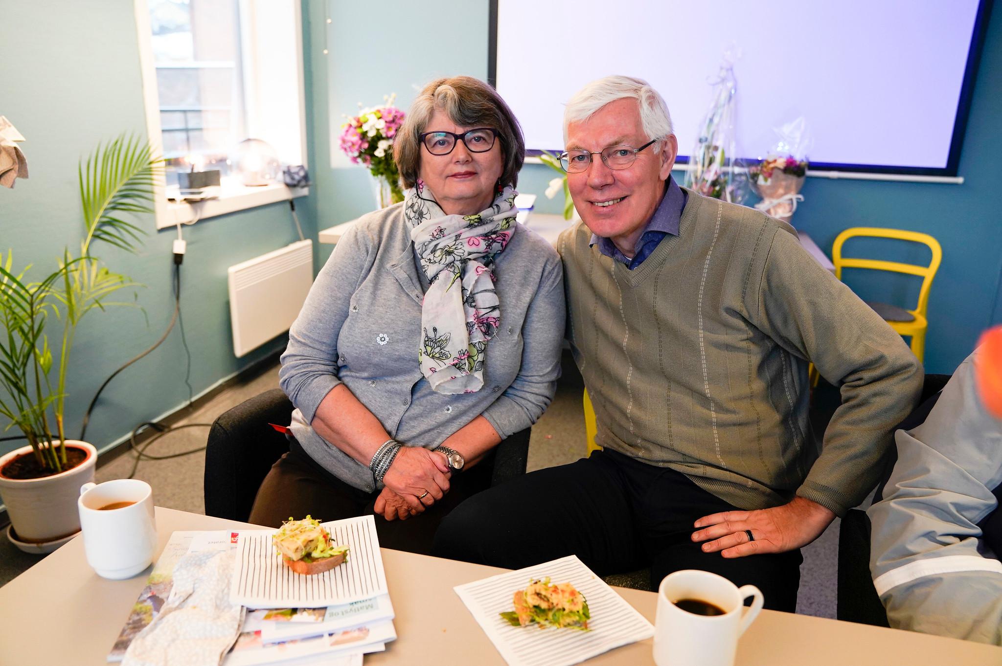 Bjørn Aasheim og kona Eva under åpningen av Løkka+ på grunerløkka, et tilbud drevet av Kirkens Bymisjon.