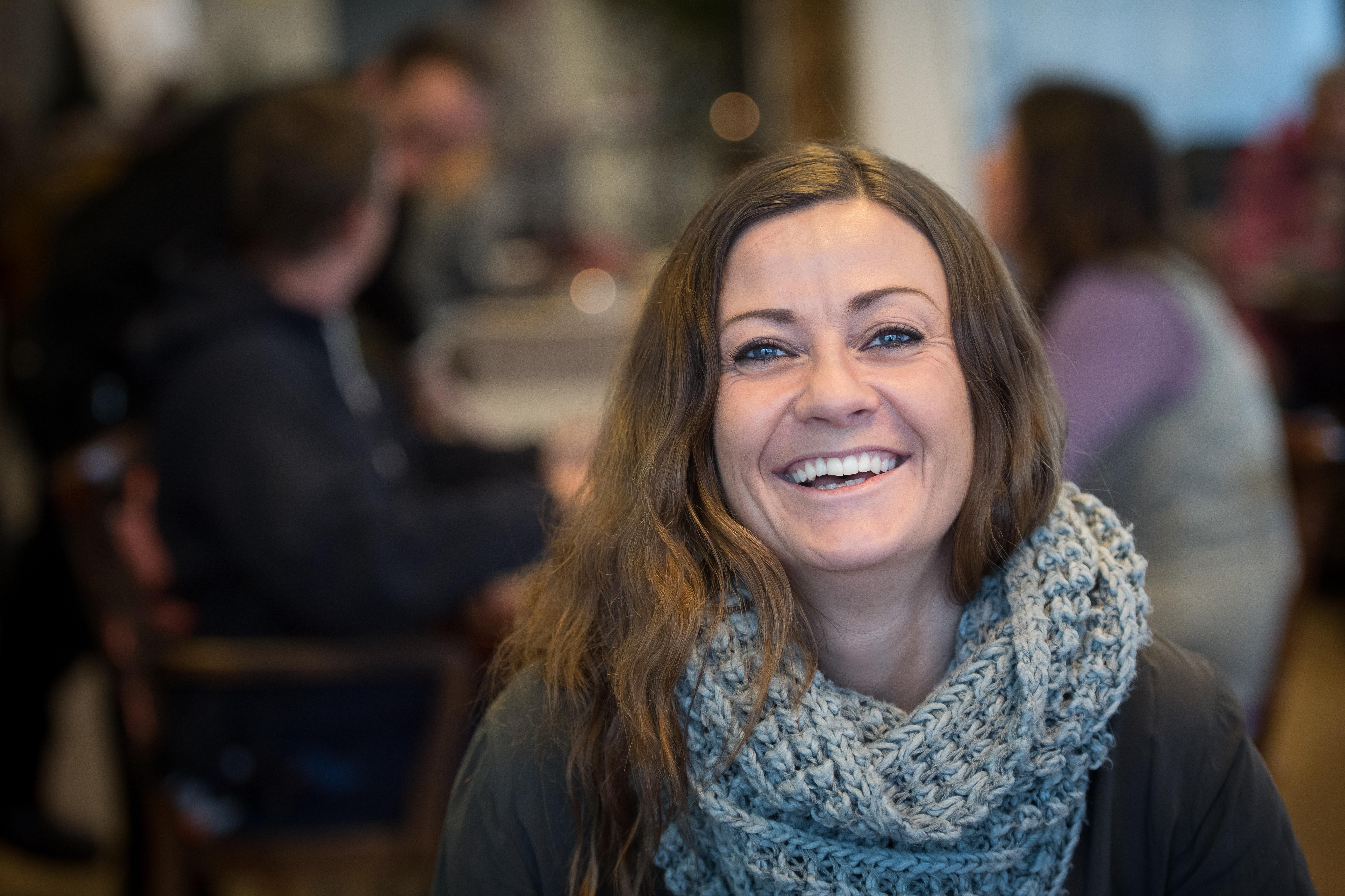 Therese Edvartsen er en av deltakerne på Akvititetskaféen.