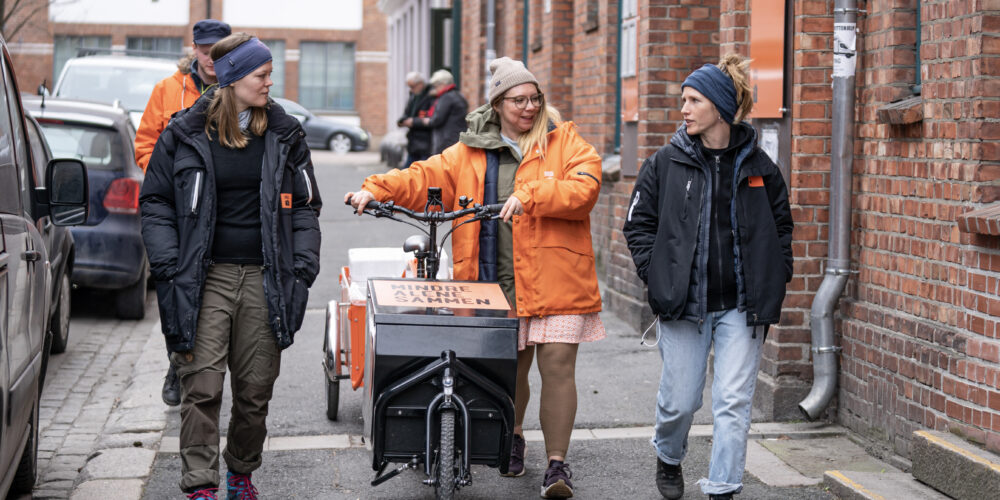 Med suppesykkelen ute på gata