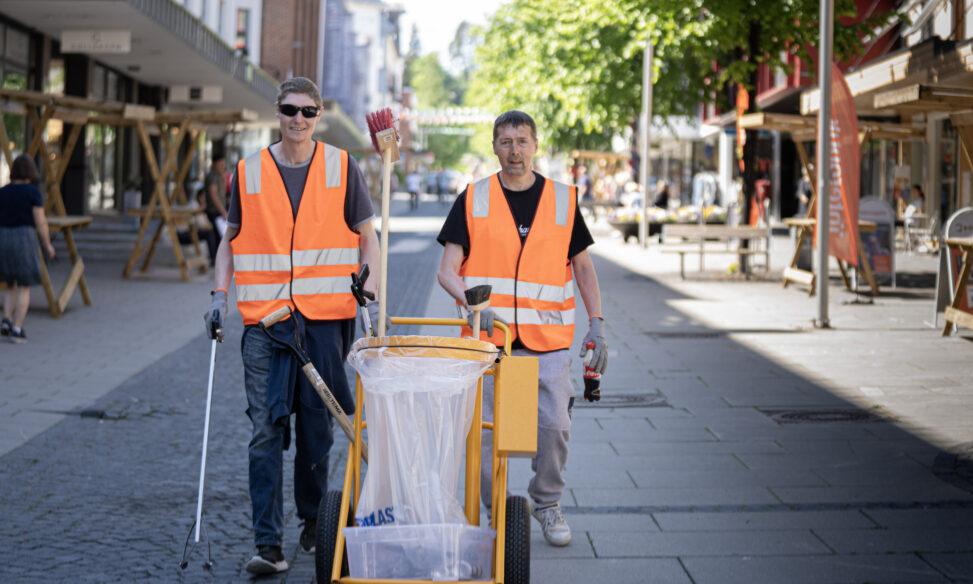 Rydding av søppel i Gjøvik