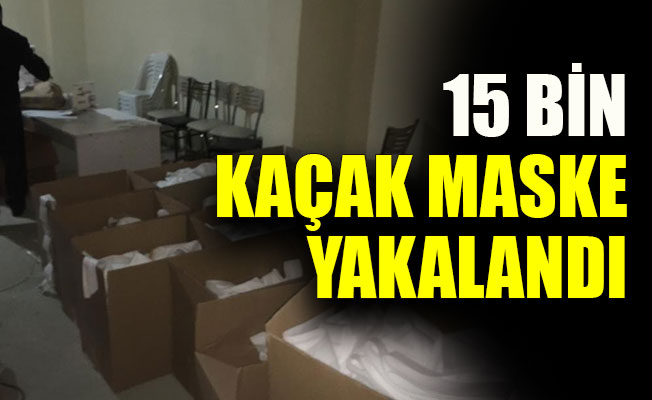 Kocaeli'de 15 bin kaçak maske yakalandı