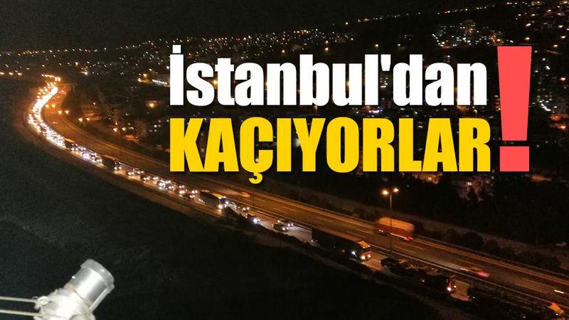 İstanbul'dan kaçıyorlar!