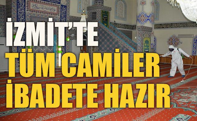 İzmit'te tüm camiler ibadete hazır