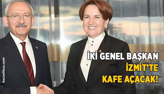 İki genel başkan İzmit'te kafe açacak!