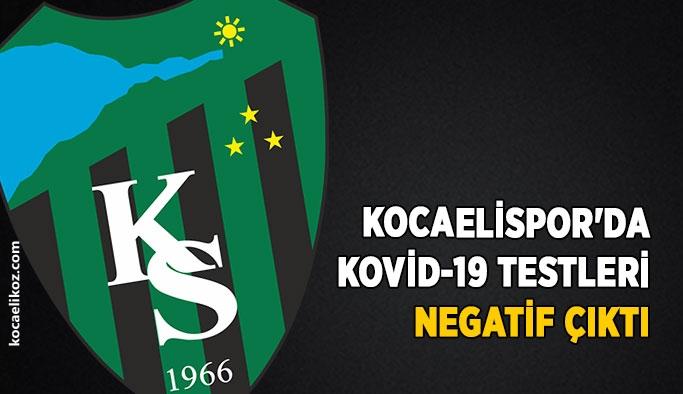Kocaelispor'da Kovid-19 testleri negatif çıktı