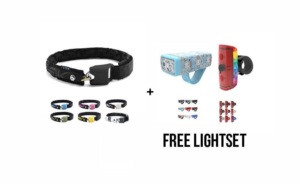 Hiplok Lite Lock + Knog Pop Lightset