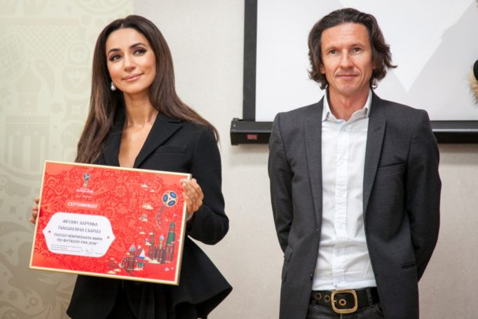 Певица Зара стала послом «большого футбола»
