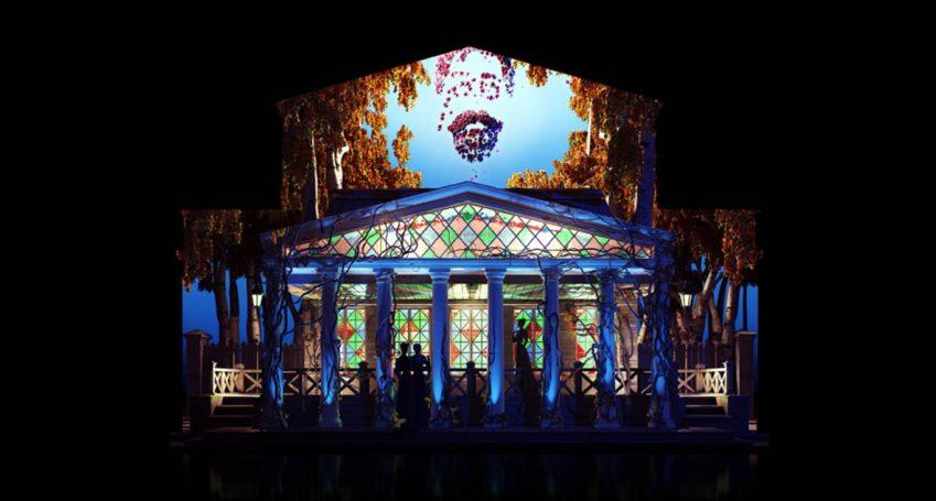 Технология создания драматического мэппинг-шоу на фасадах Большого и Малого театров