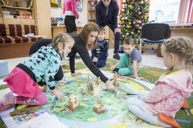 Новогодняя образовательно – развлекательная программа для детей в клинической больнице в рамках проекта «Доброе сердце»