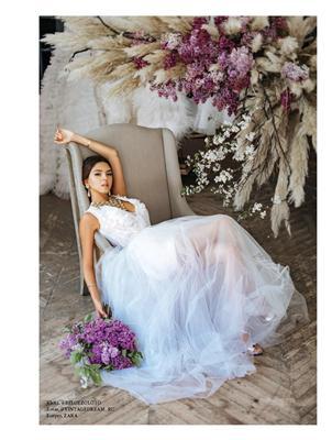 Алена Ванни: московская модель снялась для легендарного L'Officiel Wedding