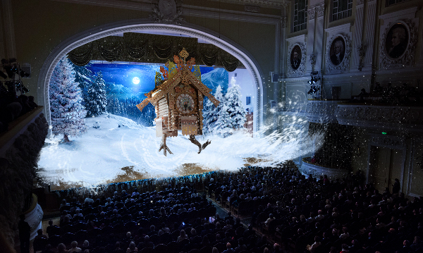 Концерт классической музыки с трехмерной визуализацией