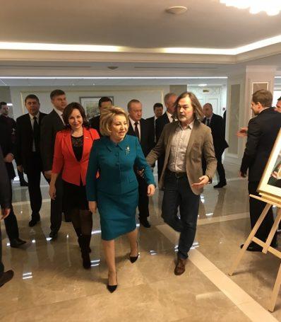 Презентация выставки «Наша эпоха в лицах современников» Никаса Сафронова прошла в Совете Федерации