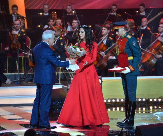Певице Заре вручена премия Министерства обороны в области культуры и искусства