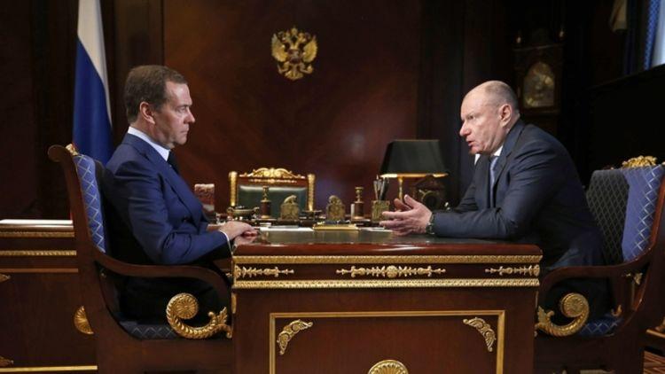 Дмитрий Медведев провел рабочую встречу с главой «Норникеля» Владимиром Потаниным