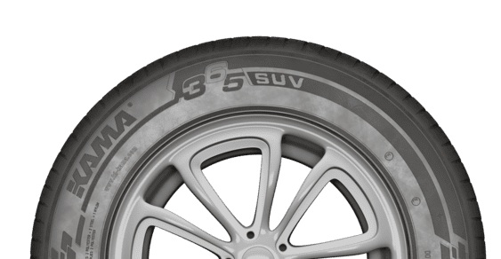Специальное построение рисунка протектора КАМА 365 SUV обеспечивает акустический комфорт