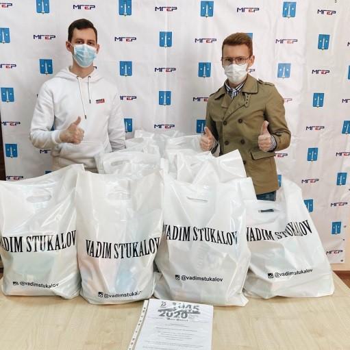 Коломенский блогер передал для ветеранов ВОВ продуктовые наборы в рамках акции #МыВместе