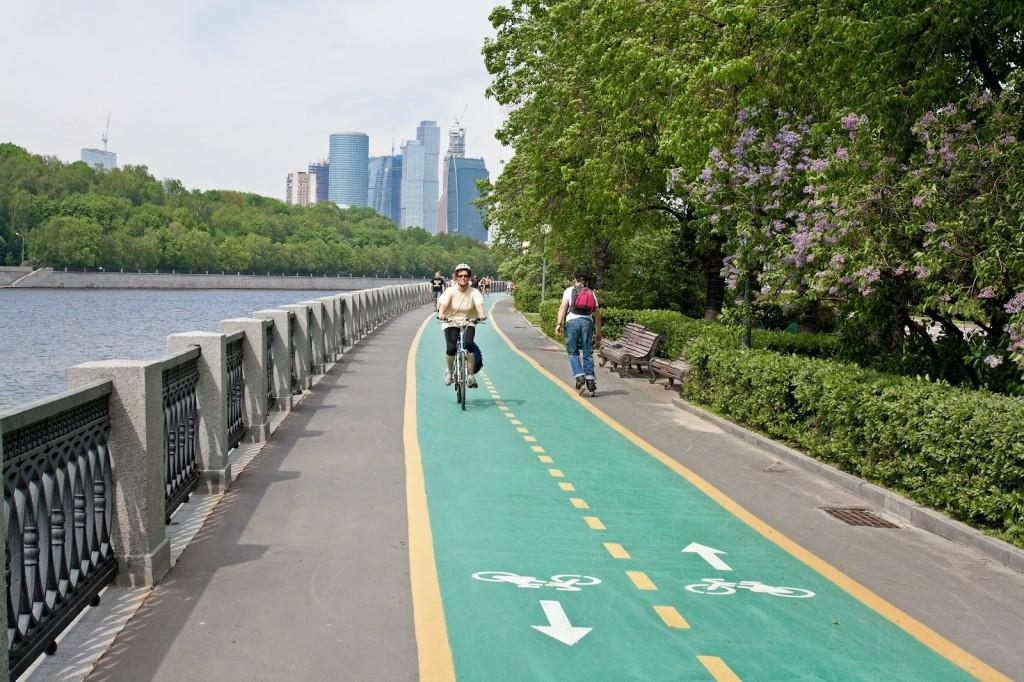 В Москве появятся новые маршруты для велосипедных прогулок и бега