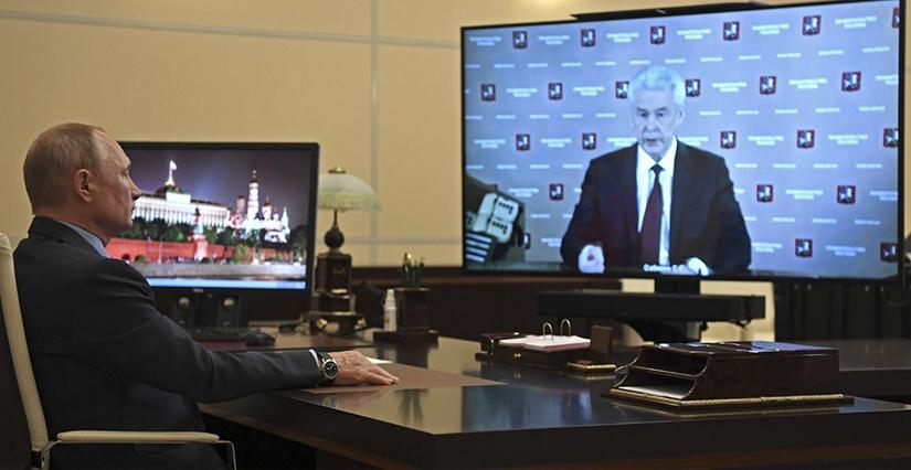 Сергей Собянин отчитался перед Путиным об эпидемической обстановке в столичном регионе