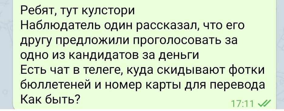 В Интернете появились сообщения о чатах для скупки голосов за оппозиционных кандидатов в Москве