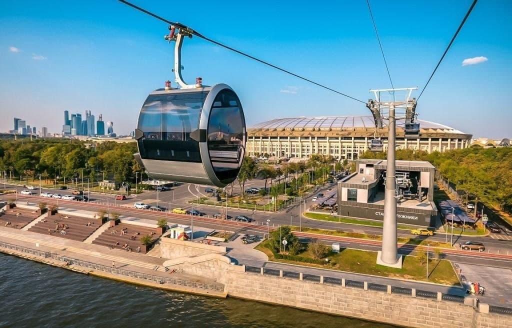 Московская канатная дорога переходит на летний график работы