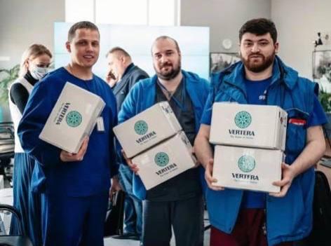 Первая партия лечебно-профилактического продукта AngioLive PRO-MAX передана компанией Vertera врачам МКЦБ «Вороновское»