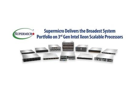 Продукты на базе процессоров Intel Xeon 3-го поколения анонсирует Supermicro