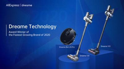 Награду как самый быстрорастущий бренд на AliExpress получила Dreame Technology